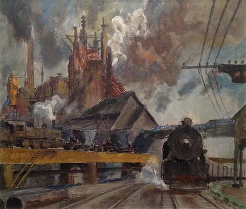 Peter Helck industrial painting