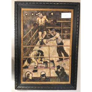 A. Smith Vintage Boxing Scene