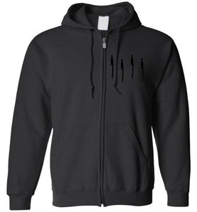 Homage Blackout Daggers Down Zip-Up