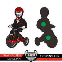 Sawhausen Lapel Pin (Glow In The Dark)