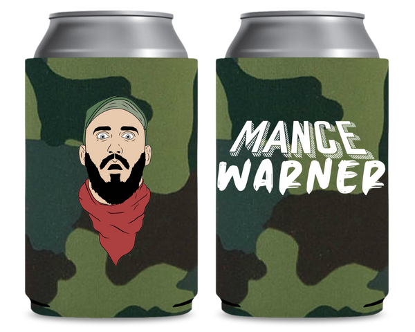 Mance Warner Camo Can Cooler