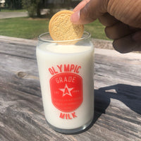 Olympic Milk 16 oz Glass