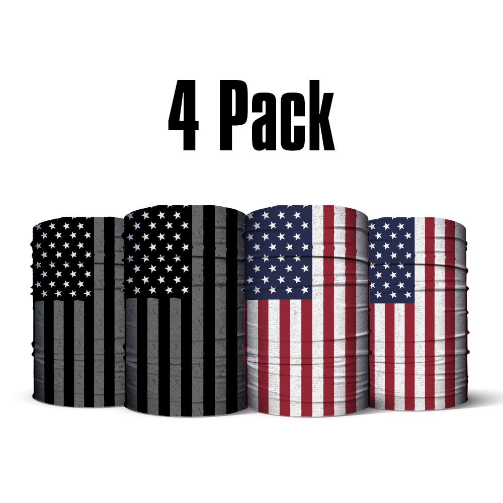 4 Pack of Flag Neck Gaiters