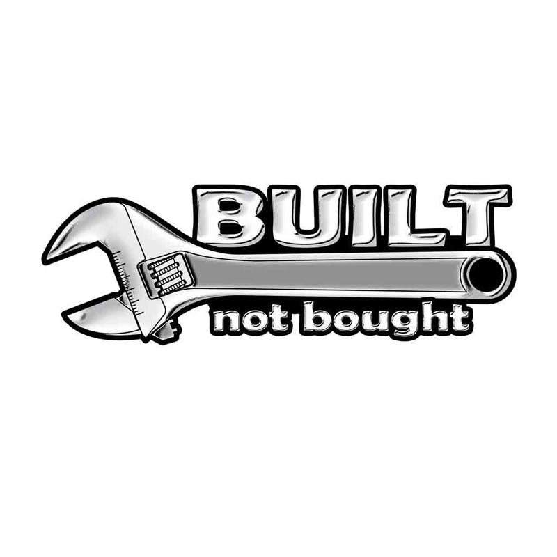 Built Not Bought Wrench 7in Decal