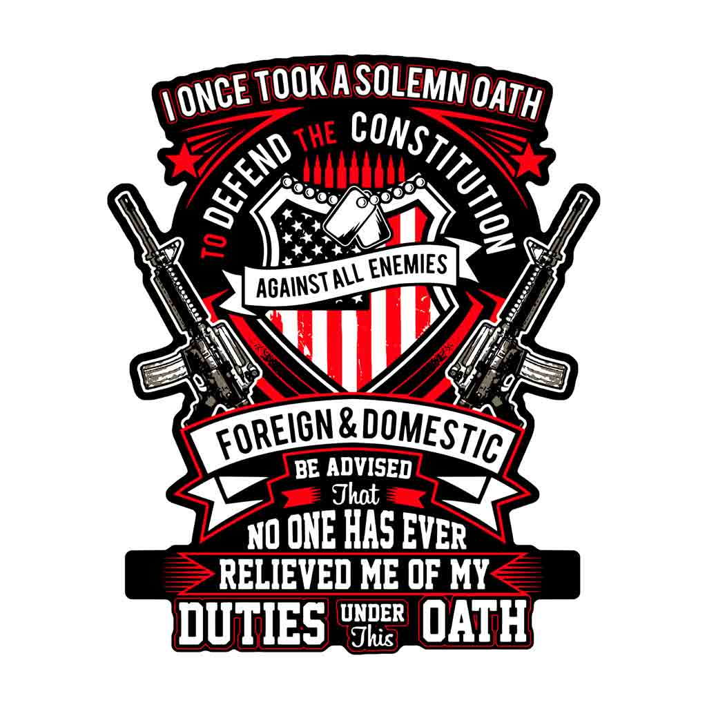 Duties Under Oath Decal