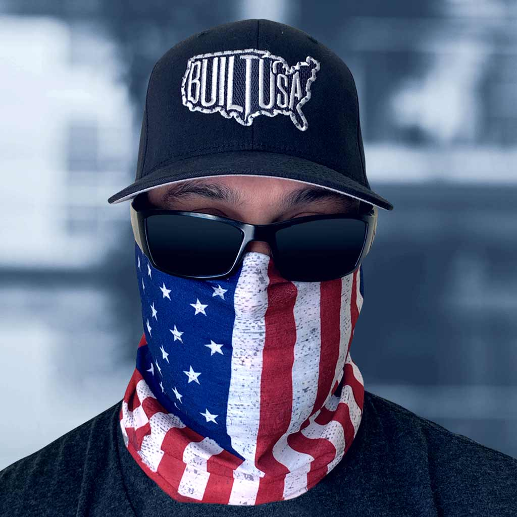 American Flag Face Mask Breathable Microfiber