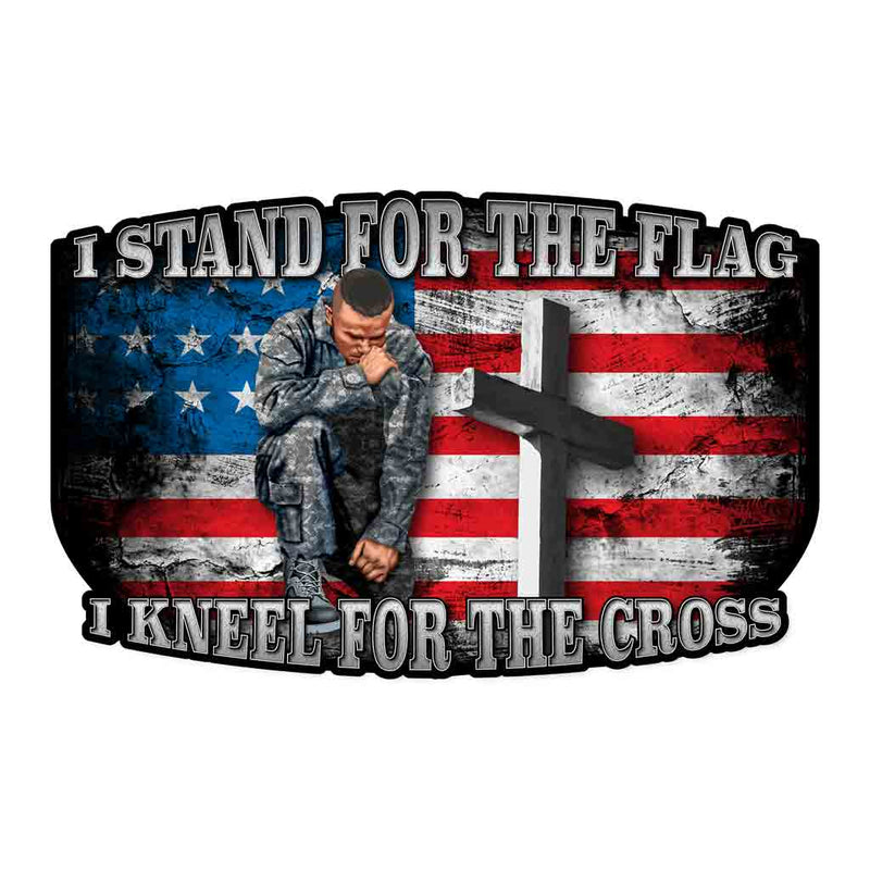 Kneel for the Cross Decal