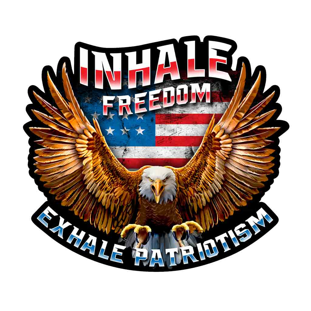 Inhale Freedom Decals