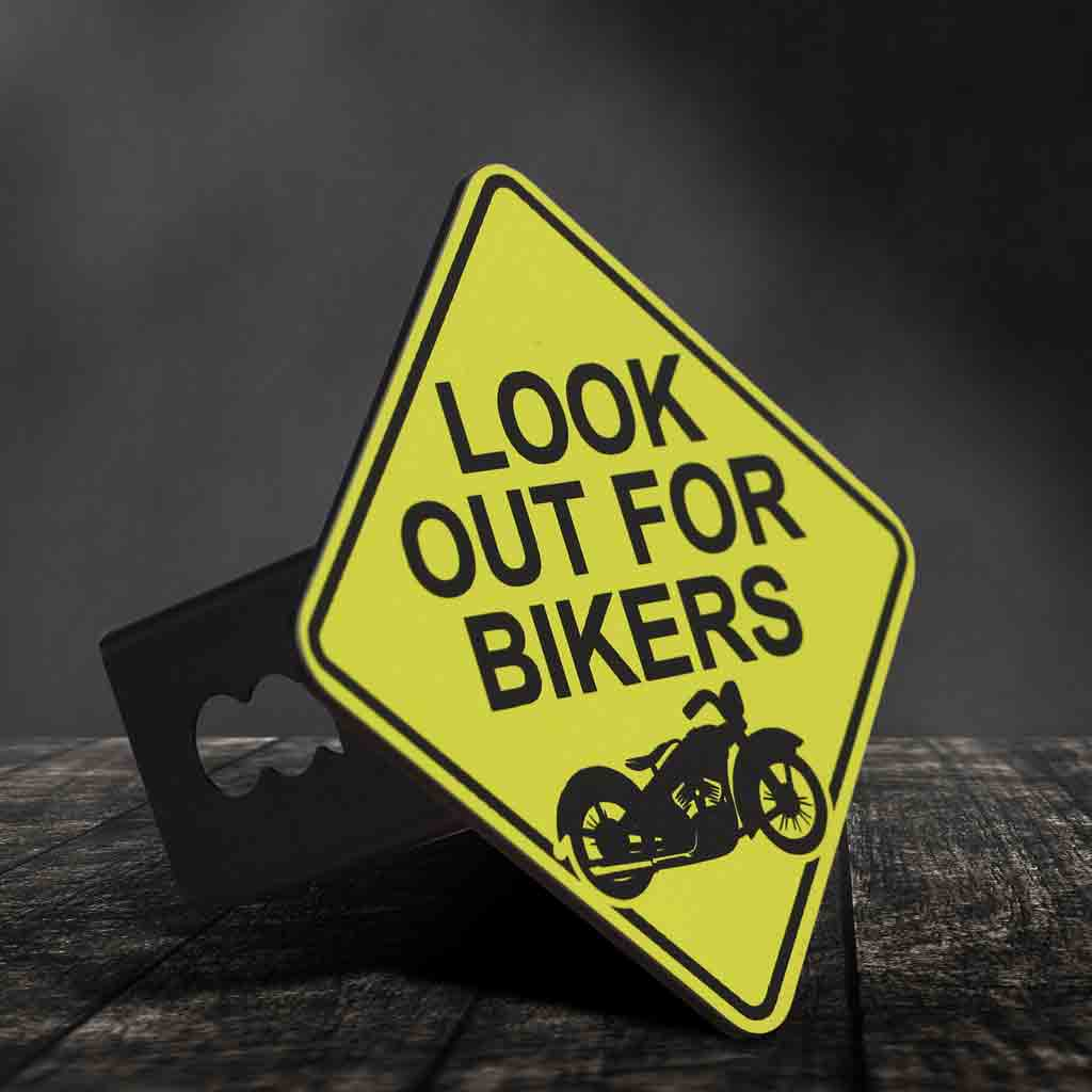 Look Out For Bikers Hitch Cover