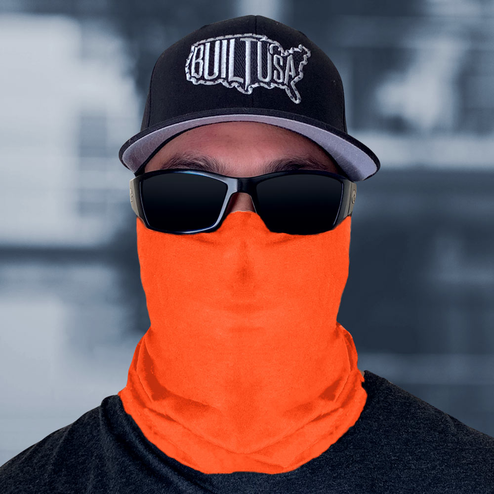 Safety Orange Neck Gaiter