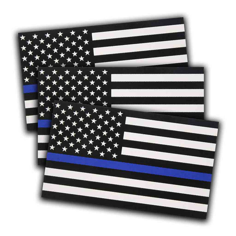 Thin Blue Line reflective decal (3 pack)