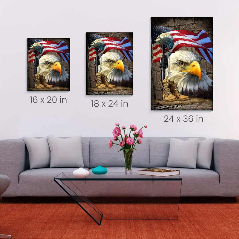 Salute our Flag Canvas Wall Art