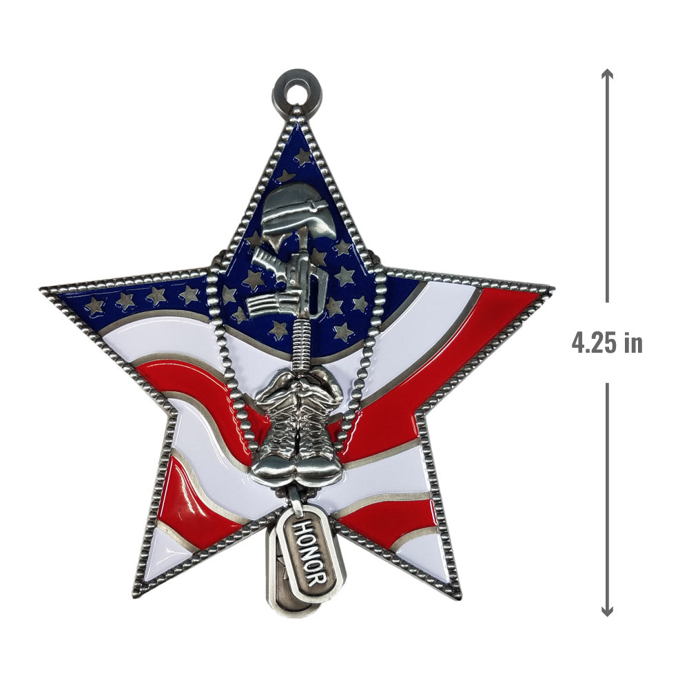 Honor Star Christmas Ornament