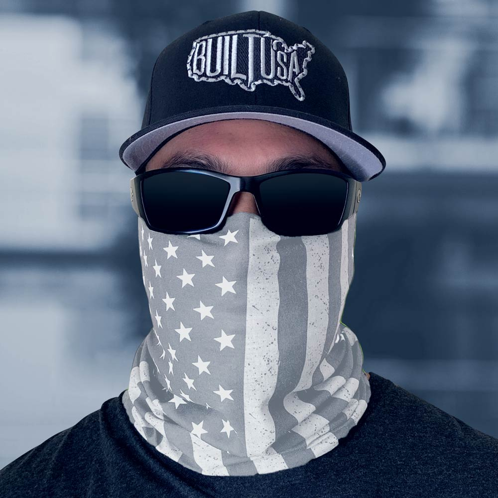 Whiteout American Flag Neck Gaiter