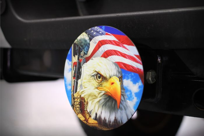 Salute our Flag Hitch Cover