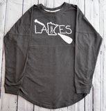 Womens Crew Neck Sweatshirt - Clean Lakes MN