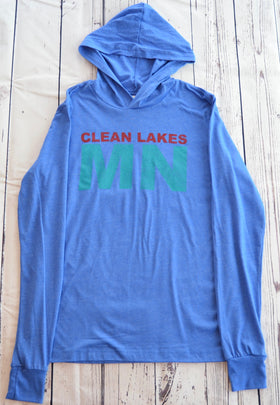 Clean Lakes MN - Lightweight Hoodie (Large)