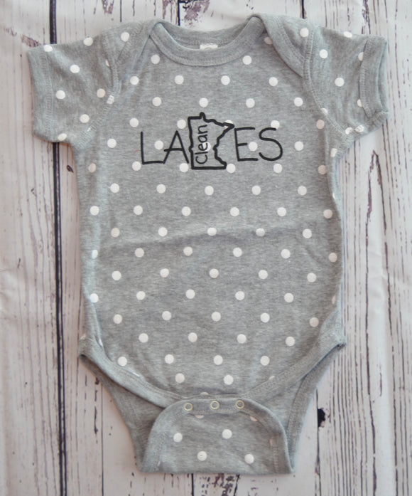 Infant Onesie (PolkaDot) - Clean Lakes MN