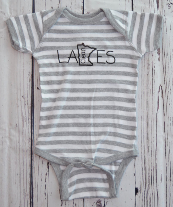 Infant Onesie (Striped)- Clean Lakes MN