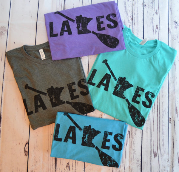 Original Clean Lakes MN - Paddle T-Shirt