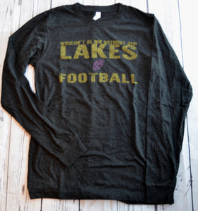 Lakes & Purple Football  - Long Sleeve (S, L & XL)