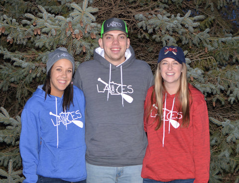 Clean Lakes MN hoodie sweatshirt.  (Minnesota lake protection clothing & accessories)