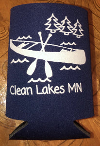 Clean Lakes MN Koozie