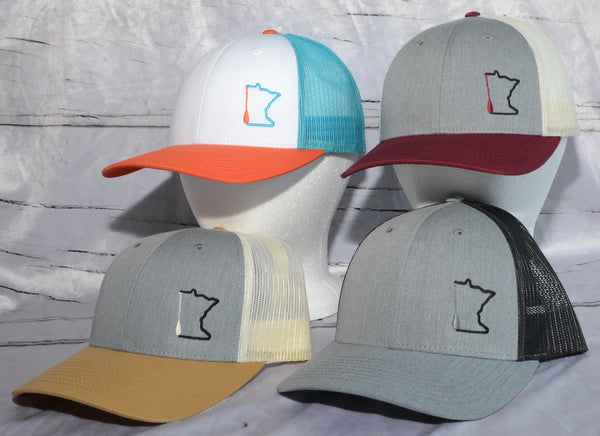 MN Paddle Trucker Hats.