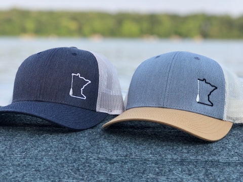 Minnesota paddle trucker hat.