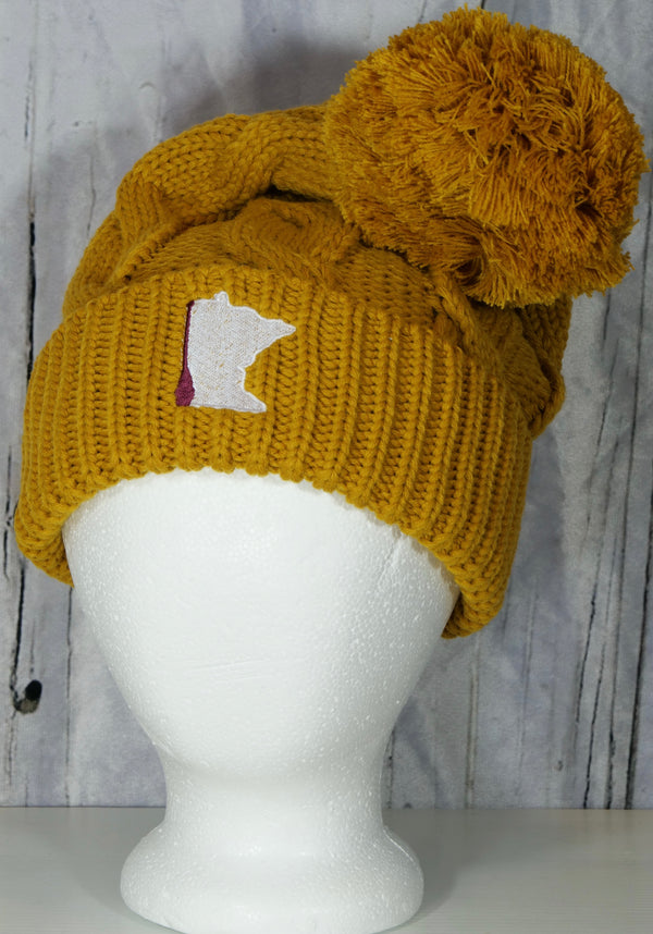 MN Paddle Twist Knit Pom-Pom