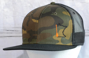 MN Paddle Camo Trucker hat.
