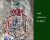 Indonesia Bali Blue Moon unroasted green organic coffee beans