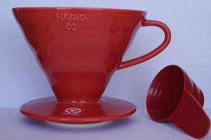 Hario V60 Ceramic Coffee Dripper Red