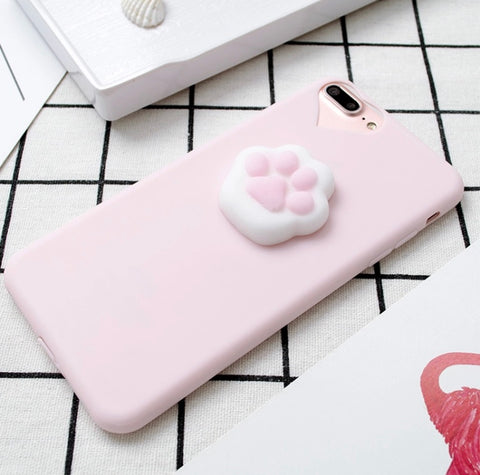 Stress Relieve Squishy Cat Paw Case