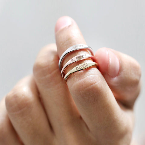 Custom Stack Rings