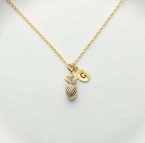 Personalize Pineapple Necklace