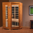 Heming - 2 Person Corner Low EMF FAR Infrared Sauna