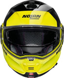 Casco para Moto Nolan N100-5 Plus Distinctive N-com 28 Negro Amarillo Led