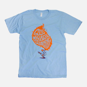 Good Mythical Morning Classic Logo Tee (Kids/Light Blue)