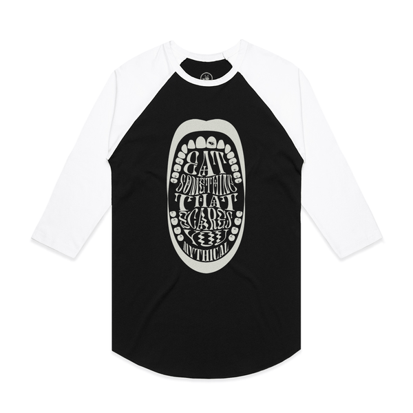Eat Something That Scares You Raglan Tee