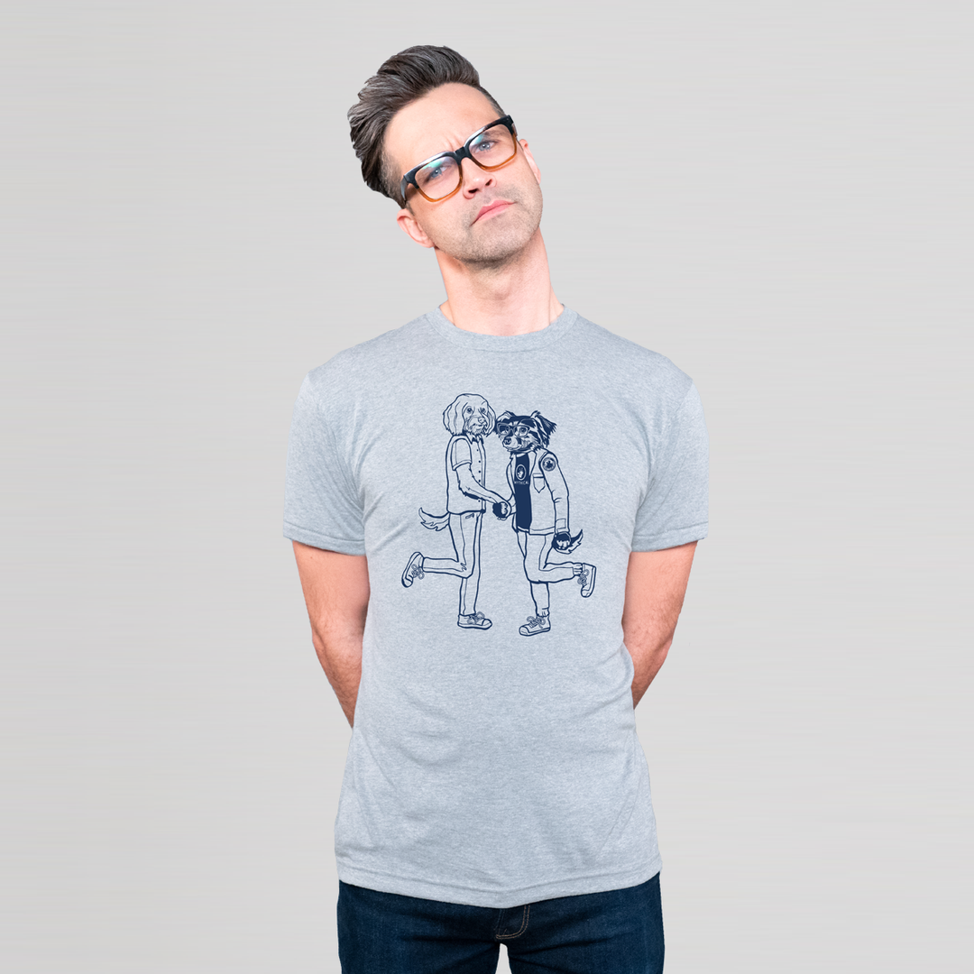 Mythical Handshake Tee (Heather Grey/Unisex)