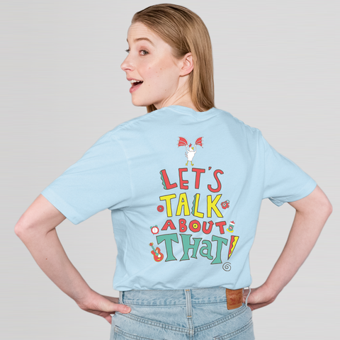 Let's Talk About That Tee (Unisex/Blue)