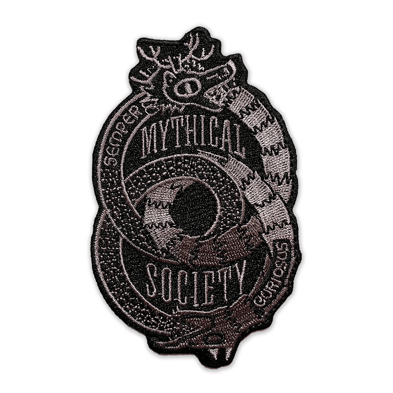 Mythical Society Logo Patch (Grey/Black)