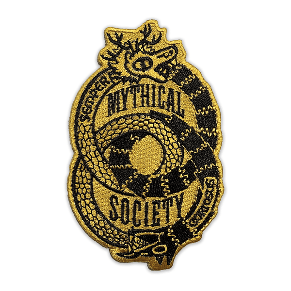 Mythical Society Logo Patch (Black/Gold)