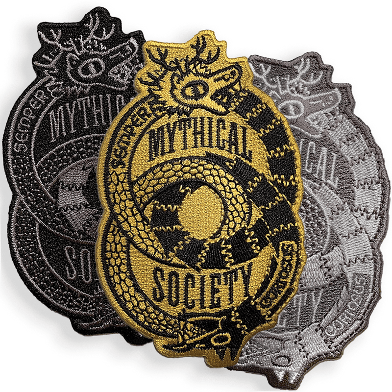 Mythical Society Logo Patch (White/Grey)