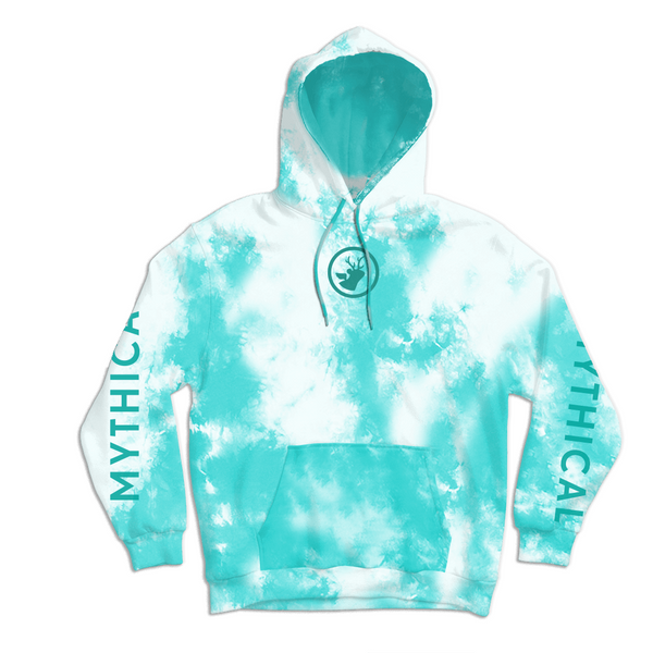 Mythical Crystal Wash Hoodie (Pastel Teal)