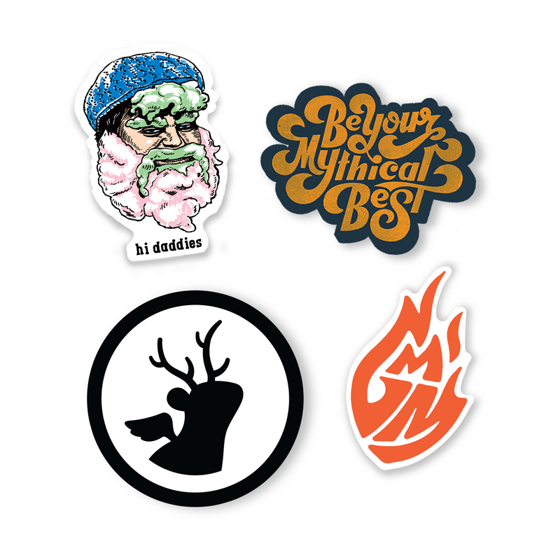 Mythical Stickers (4-Pack)
