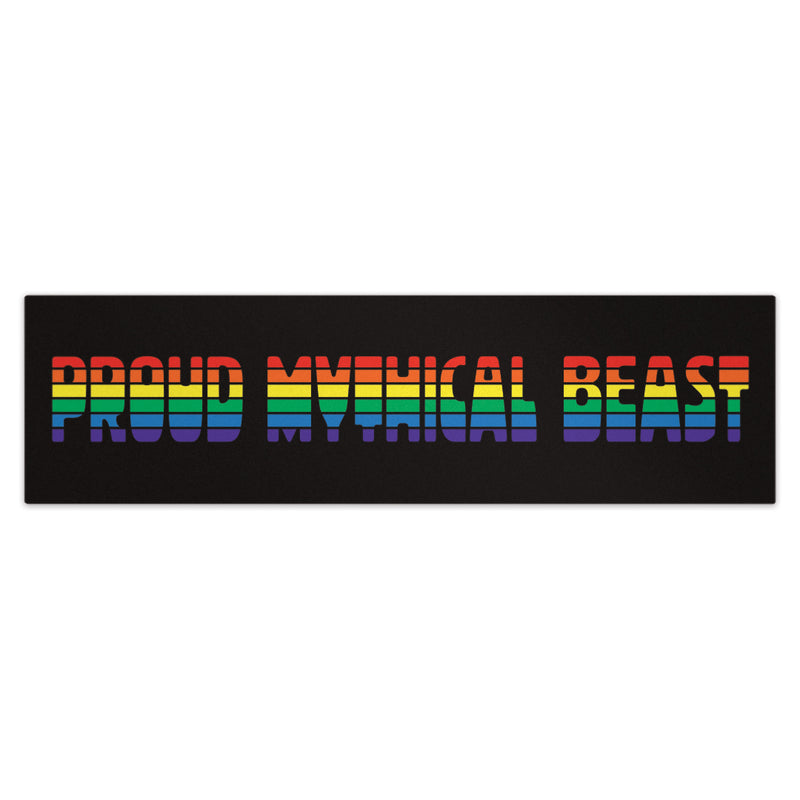 Proud Mythical Beast Rainbow Bumper Sticker