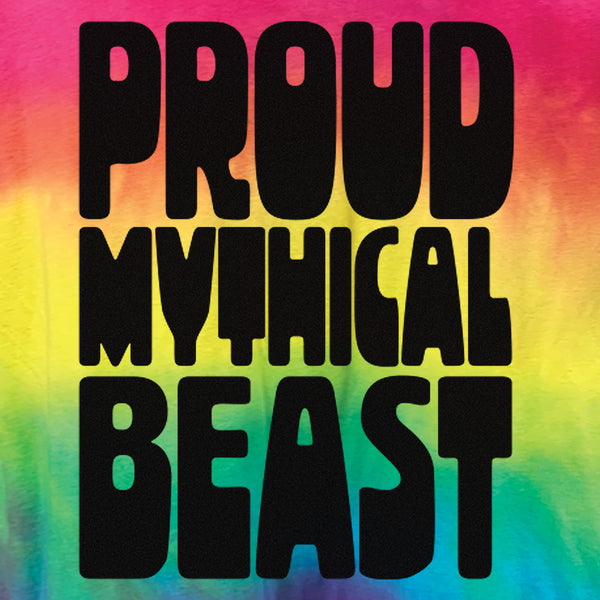 Proud Mythical Beast Rainbow Wash Tee