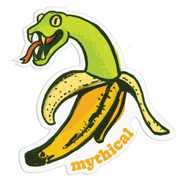 Mythical Kitchen Creature Sticker (Bananaconda)